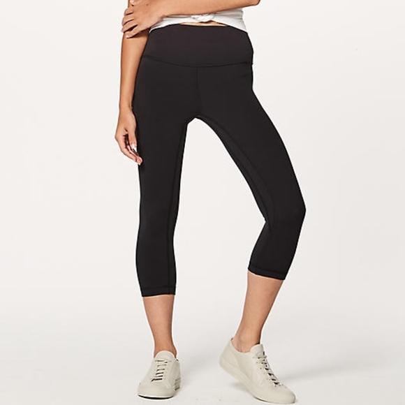 e157d090f81b5 lululemon athletica Pants | Lulu Lemon Black Align Cropped Leggings ...